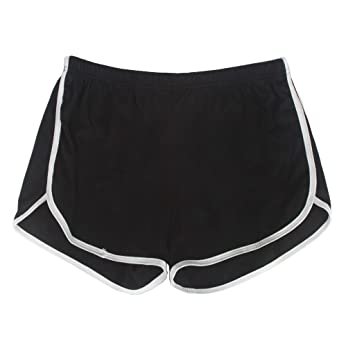 9130c49697d Yoga Gym Sport Shorts Workout Running Short Pants for Women No Drawstring  Solid Color Dolphin Shorts