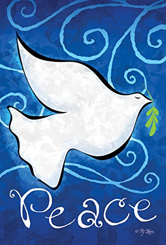 Toland Home Garden Snow White Dove 12.5 x 18 Inch Decorative Inspirational Peace Bird Garden Flag (Blue Peace Sign Garden Flag)