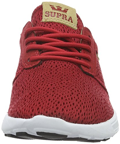 Supra Hammer Run Tan Baskets White White Red Red Basses Tan Homme Rouge Pointure rwdwqH
