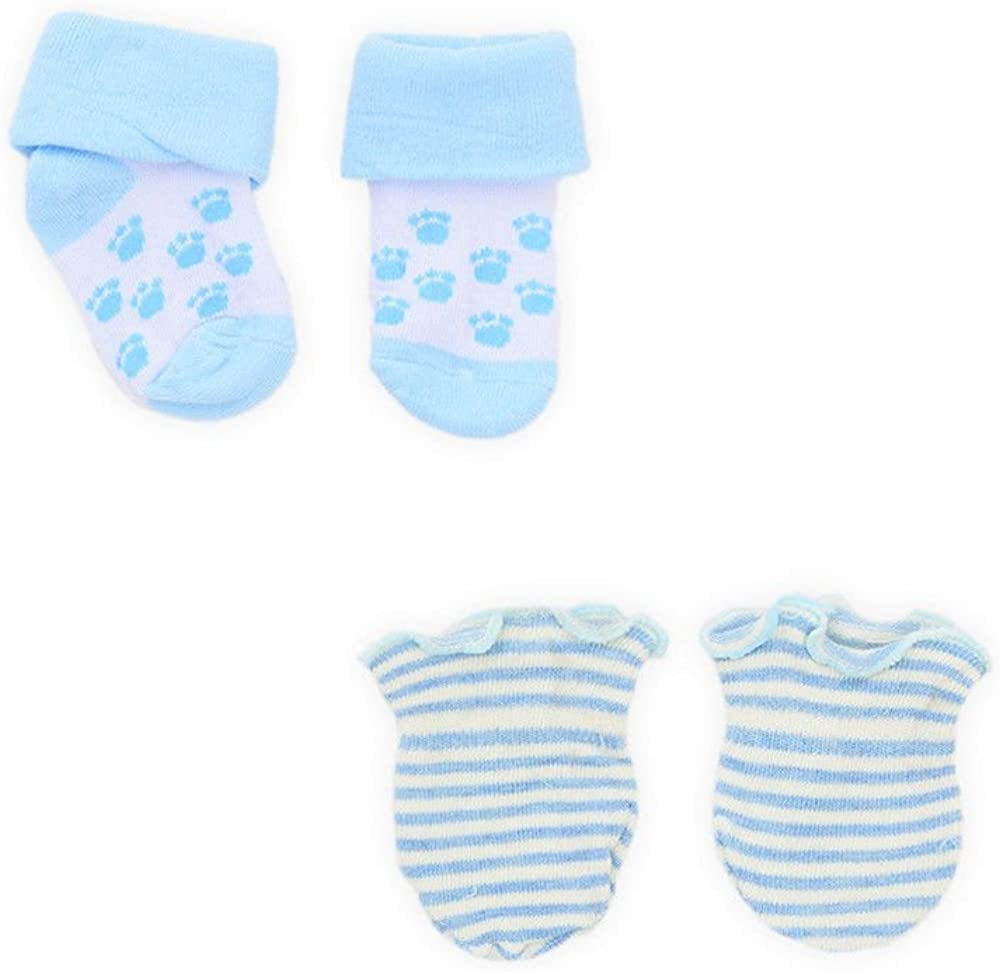 Assorted 1-4 Pairs of Baby Boy Soft Touch Socks and Mittens Newborn Gift Set Colourful Designs