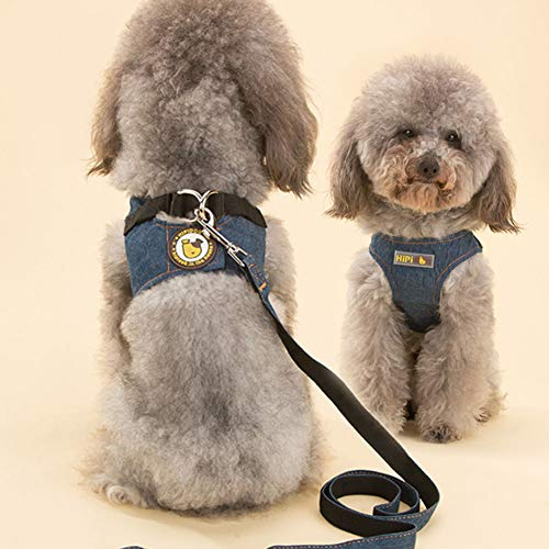 Vest-Style Dog Denim Leash Rope pet Leash Dog Leash Dog Chai