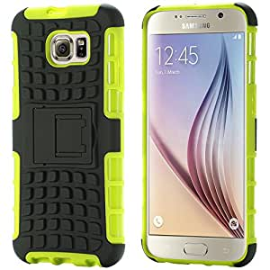 TPU+PC Kickstand Hybrid Case For Samsung Galaxy S6 S VI Edge Impact Rugged Phone Cases Cover Shell For Samsung Galaxy S6 Edge --- Color:white