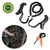 Pocket Portable Chainsaw with 29 Inch Survival Tool Gear Wire Saw,Emergency Kit Free Magnesium Fire Starter-Best for Hiking,Camping,Hunting,Wood&tree Cutting Handsaw by B-Sin