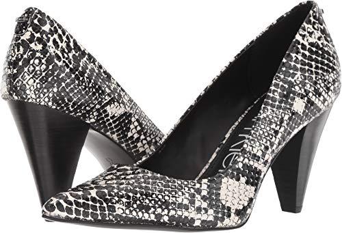 Calvin Klein Women's Icey Black/White Snake Print 7 M US (Black Pumps Print Snake)