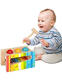 Pidoko Kids Pound & Tap Bench with Slide Out Xylophone - Toddlers Wooden Early Educational Hammer Musical Toys BOBEBE Online Baby Store From New York to Miami and Los Angeles