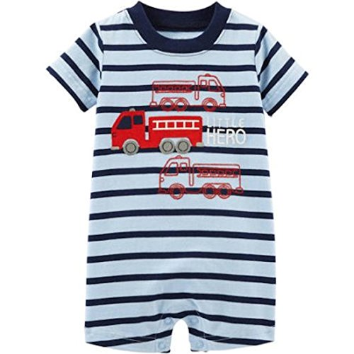 Carter's Baby Boys Fire Truck Little Hero Romper Sunsuit Jumpsuit Playwear