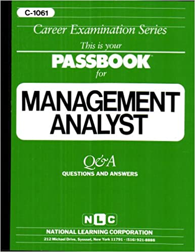 Management analystpassbooks career examination series jack management analystpassbooks career examination series jack rudman 9780837310619 amazon books fandeluxe Gallery