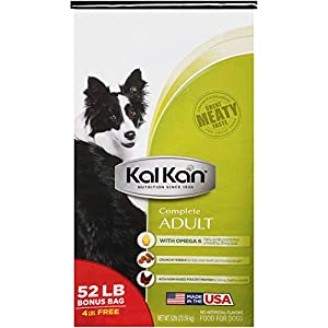 Kal Kan Complete Adult Dog Food 52 lb. Bag (1) 60%OFF