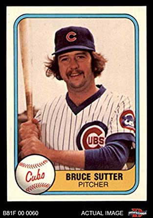 Amazoncom 1981 Fleer 294 Bruce Sutter Chicago Cubs Baseball