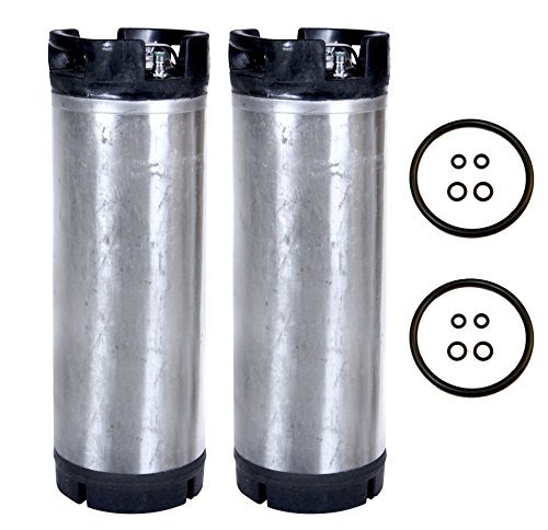 - Beverage Factory Reconditioned 5 gal Pin Lock Kegs (Pack of 2)