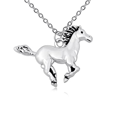 amazon com beichuang my little pony pendant silver horse necklace