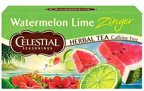 Celestial Seasonings Herbal Tea, Watermelon Lime Zinger, 20 Count (Pack of 6) -