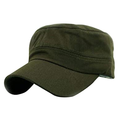 Saoye Fashion Gorra Llana Clásica Vintage Ejército Militar Cadete ...