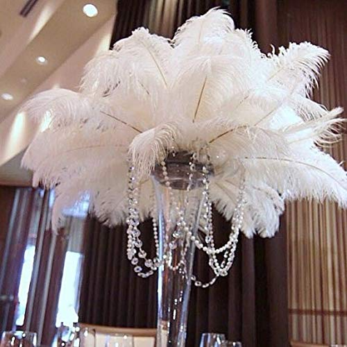 Special Sale OSTRICH Feathers Wholesale Bulk 15/18'' long DELUXE TAIL PLUME Feathers Bleach White Qty 100 by ExoticFeathersLA (Image #4)
