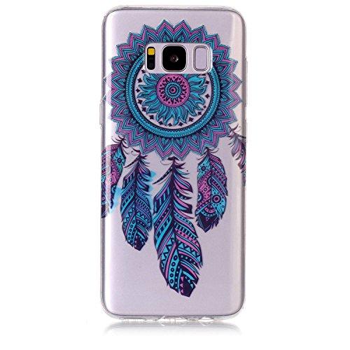 mokyo Samsung Galaxy S8Plus Funda Suave, transparente Gel TPU Funda de silicona con [libre Stylus Lápiz] antigolpes antiarañazos Teléfono de buzón Super fina goma Rubber Carcasa Transparente jalea pi atrapasueños