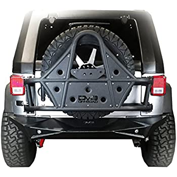 Amazon DV40 Jeep Wrangler Tire Carrier Body Mounted Offroad Best Jeep Jk Lug Pattern