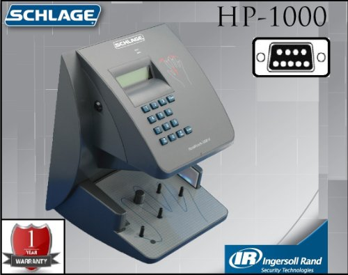 Hand Punch 1000 (Schlage Biometric Hand Reader HP 1000 (Geometry HandPunch Terminal - 1 Year Warranty!)(RS232- 50 ft. Serial Cable Included) Sold by Time Masters (UPS SHIPPING))
