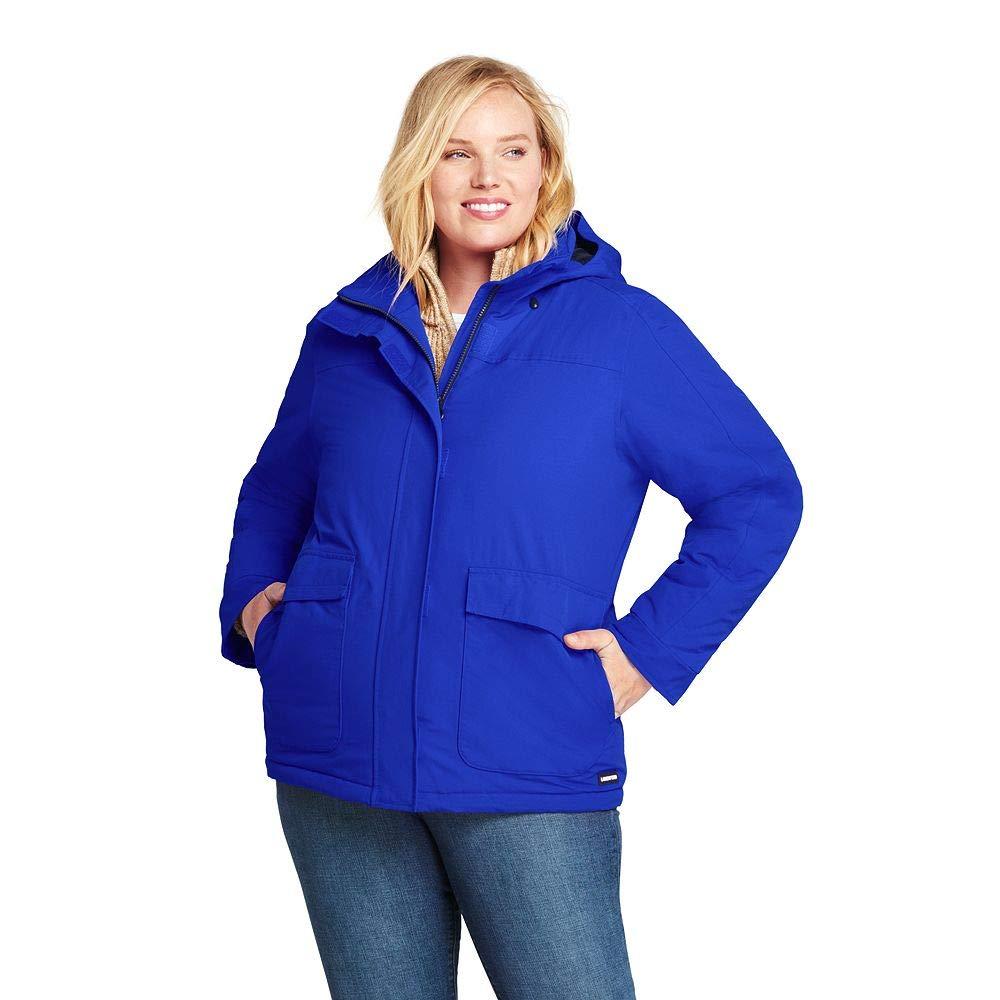 298335fdbd0 Lands  End Women s Plus Size Hooded Squall Winter Jacket