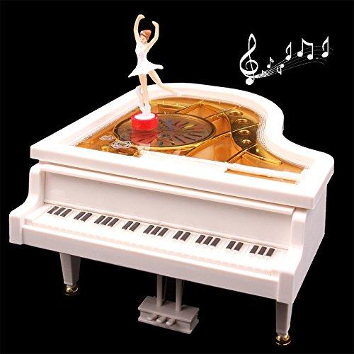 Dig dog bone Music Box Romantic Piano Style Clockwork Spring Music Box with Ballerina ()