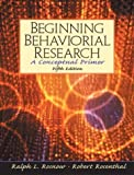 img - for Beginning Behavioral Research: A Conceptual Primer (5th Edition) book / textbook / text book