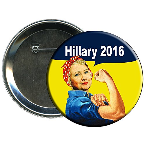 Hillary Clinton Rosie the Riveter 2016 Campaign Button