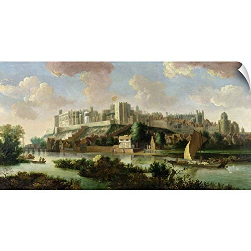 Windsor Canvas Poster - Canvas on Demand Wall Peel Wall Art Print Entitled Windsor Castle seen from The Thames by Johannes Vorsterman, c.1700 48