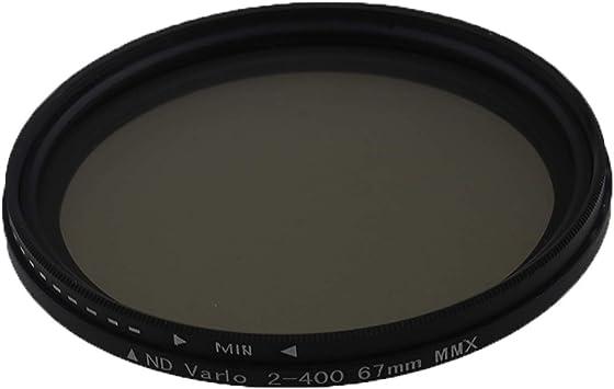 Variable ajustable Filtro ND ND2 a ND400 67mm Filtro de densidad neutra Fader