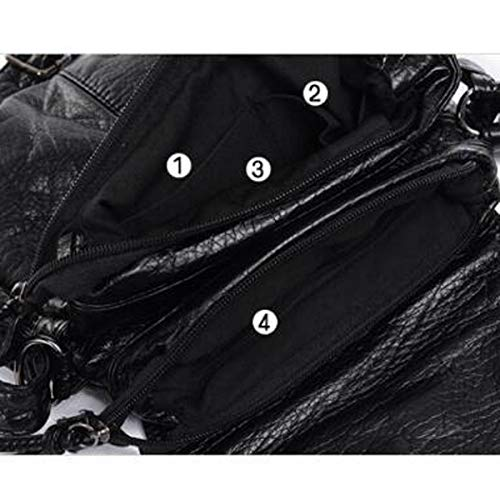 noir tout Sac en plein sac à cuir fourre air pour couleur Lindou femme noir pour taille dos dos moyenne avec à en Sac classique femme 7Xwqn0SW