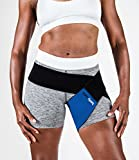 body helix Groin Muscle Support - Adjustable Groin Compression Wrap - Provides Exceptional Support for Injured Groin (Blue)