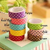 forone Stationery Multi-Color DIY Album Decoration Paste Washi Sticky Dot Paper Print Ornament Tape Adhesive Tapes Stickers Correction Tapes