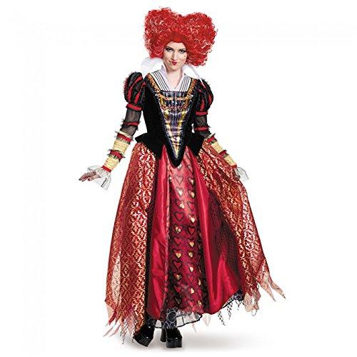 Disney Women's Alice Queen Prestige Costume, Red, Medium