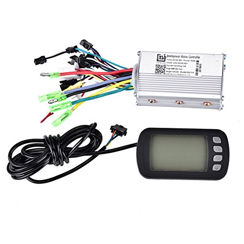 Vbestlife Electric Bicycle Speed Controller,36V/48V 350W Brushless Speed Motor Controller with LCD Panel for E-bike Electric Bike -
