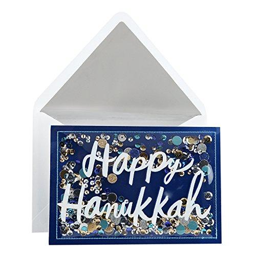 - Hallmark Signature Hanukkah Card (Happy Hanukkah Confetti)