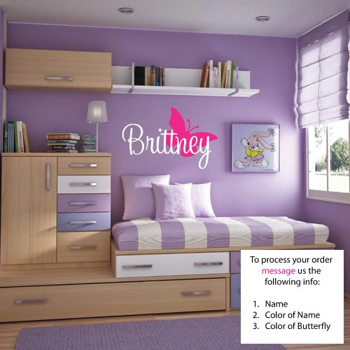 Brittney Wall Decal Childrens Personalized Name - Childrens Wall Art - Girls Name Wall Decal - Monogram