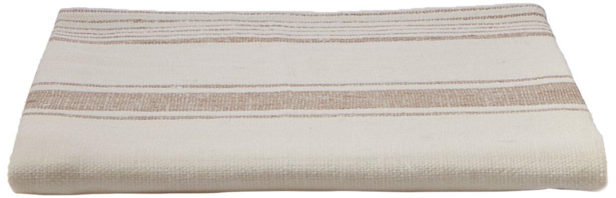 Linenme 47 x 70 cm, 100 Percent Asciugamani di Lino, Colore: Bianco/Grigio 01526