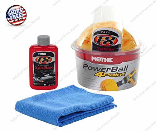 PowerBall 4Paint Waxer Tool Car Polisher for Paint FX SynWax Towel - Marks From How Glass Scratch To Remove