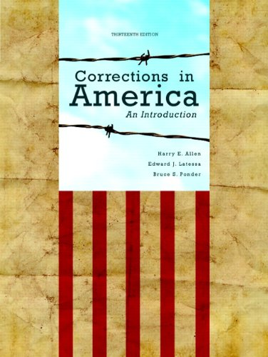 Corrections in America An Introduction 13th Edition