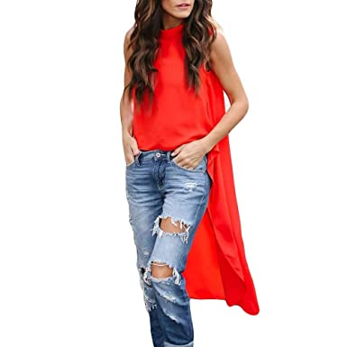 RTYou Women Tops Ladies Blouse Women Fashion Pure Color Sleeveless Vest Top  Fashion T Shirt (