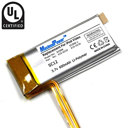 MaximalPower Replacement Battery for Apple iPod Video/Classic 30GB (30 Gig Ipod Classic)
