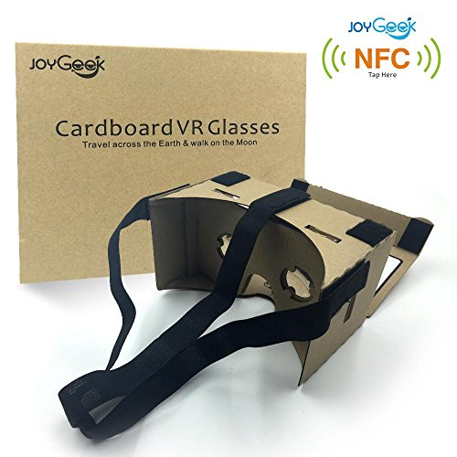 Google-CardboardJoyGeek-VR-Headset-3D-Glasses-Virtual-Reality-Glasses-for-35-6Inch-Cellphones-iOS-Apple-iPhone-and-Android-Smartphones-with-HeadbandNFC-and-MagnetYellow