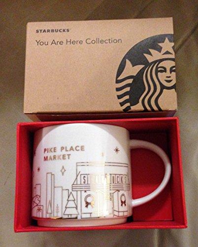 Starbucks Seattle Pike Place Market First Store 2014 Christmas Holiday You Are Here Mug 14 Oz Rare (First Mug Christmas)