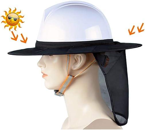 protecci/ón de protecci/ón Solar de Malla de Borde Completo Accesorio de Casco Sombra de Casco 1 Piezas YZJJ Hard Hat Sun Shield: Alta Visibilidad Sombra de Cuello
