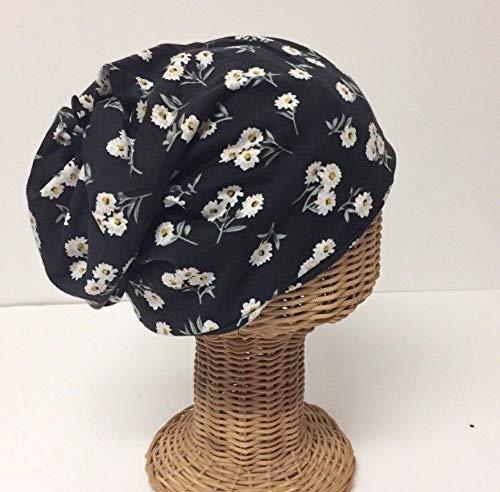 Lot of Two Women Beanie Hats Caps Neck Warmer Head wrap Knit Floral Black #KSAA