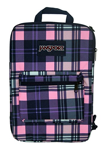 JanSport Womens Superbreak? Sleeve Pink Pansy Preston Plaid Backpack (Jansport Backpacks Sling)