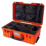 "Orange & Black Pelican ""Colors"" series 1535 Air case, with TrekPak Dividers & lid organizer."