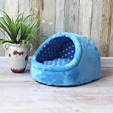 WuKong 17.7''x16.1''x11'' Candy Pet Bed Kennel Dog Nest Cat Bed (Blue)