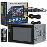 Power Acoustik PDN 626B 6.2 Double DIN Navigation Car audio DVD MP3 CD Player USB with Bluetooth Plus DCO Waterproof Backup Camera with Nightvision (Optional camera)