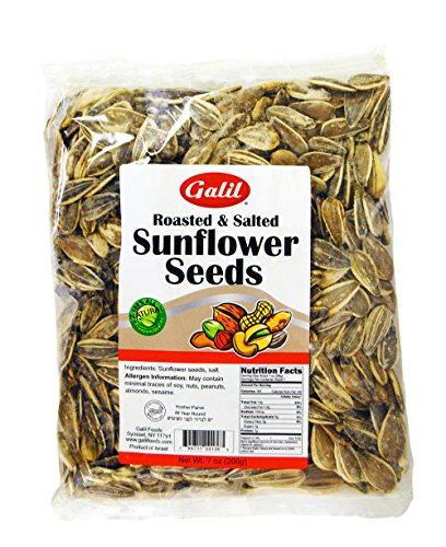 Galil Sunflower Seeds Roasted/Salted, 7-Ounce Bags (Pack of 6)