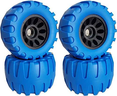 New 113X64mm Off Road Longboard/Mountainboard Rubber Wheel W/Hard Core Set of 4 Color Blue