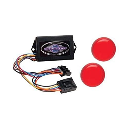 Badlands Motorcycle Products Plug-in Illuminator with Red Lenses on